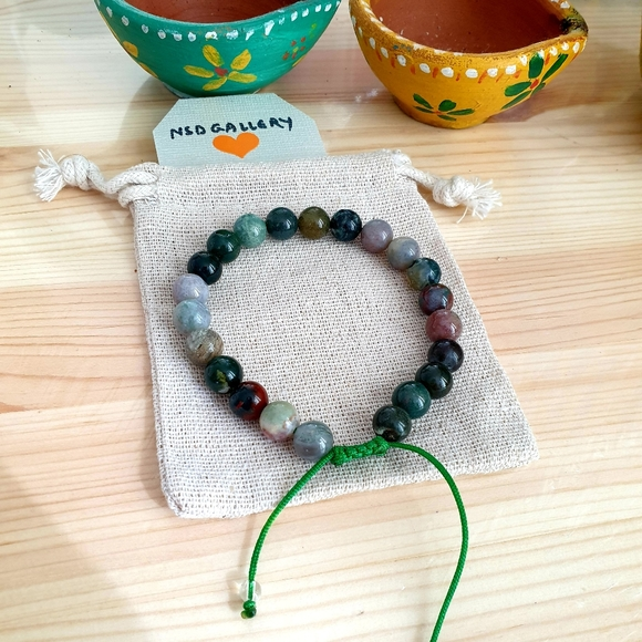 Adjustable gemstone bracelet Mix Stone